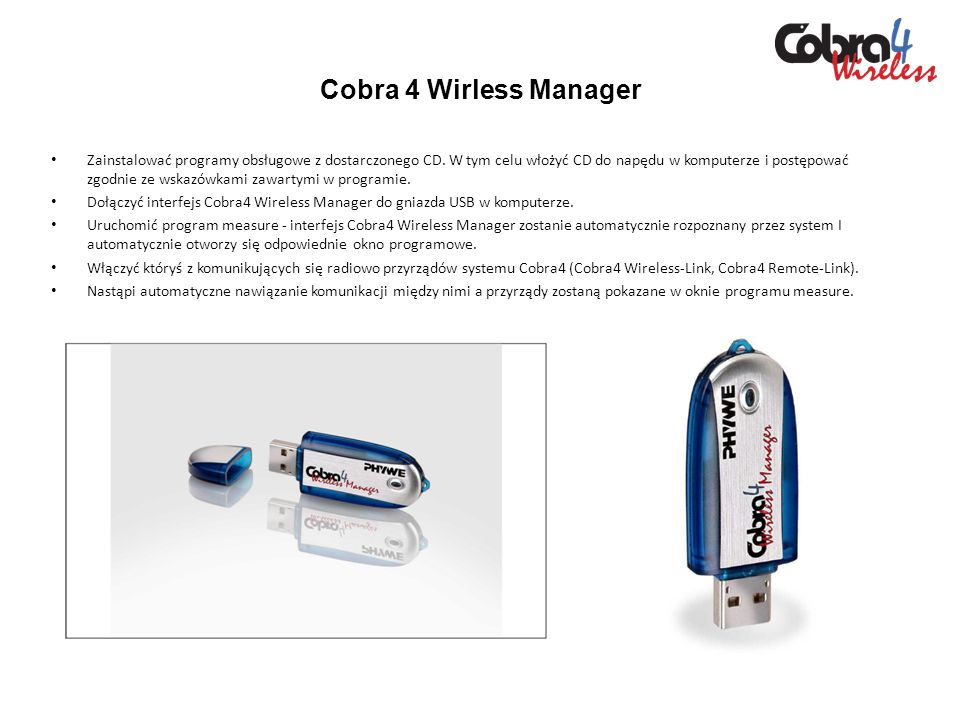 Cobra 4 Wirless Manager