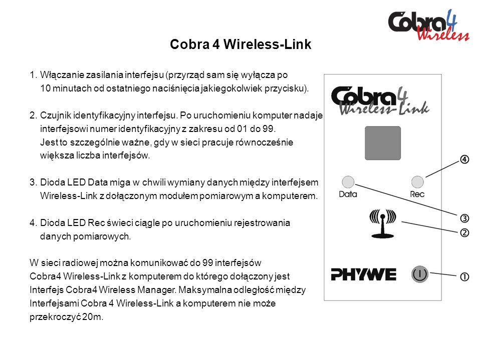 Cobra 4 Wireless-Link