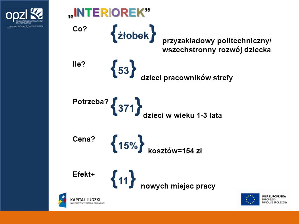"{żłobek} {53} {371} {15%} {11} ""INTERIOREK Co"
