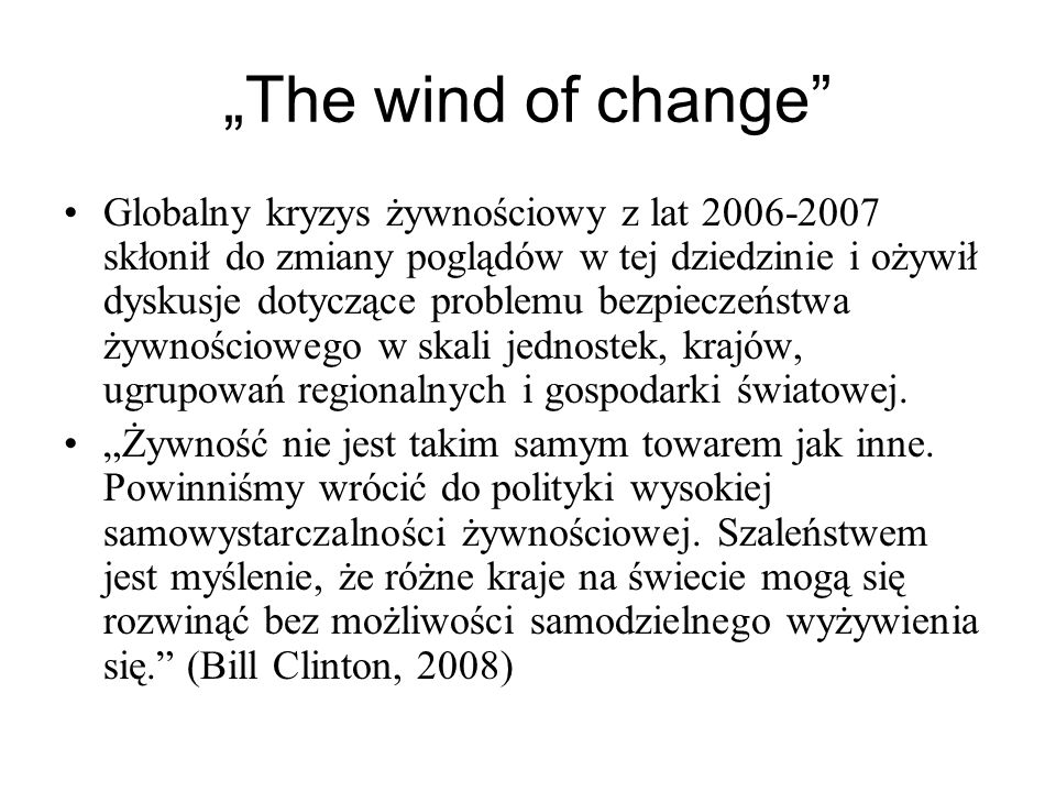 """The wind of change"