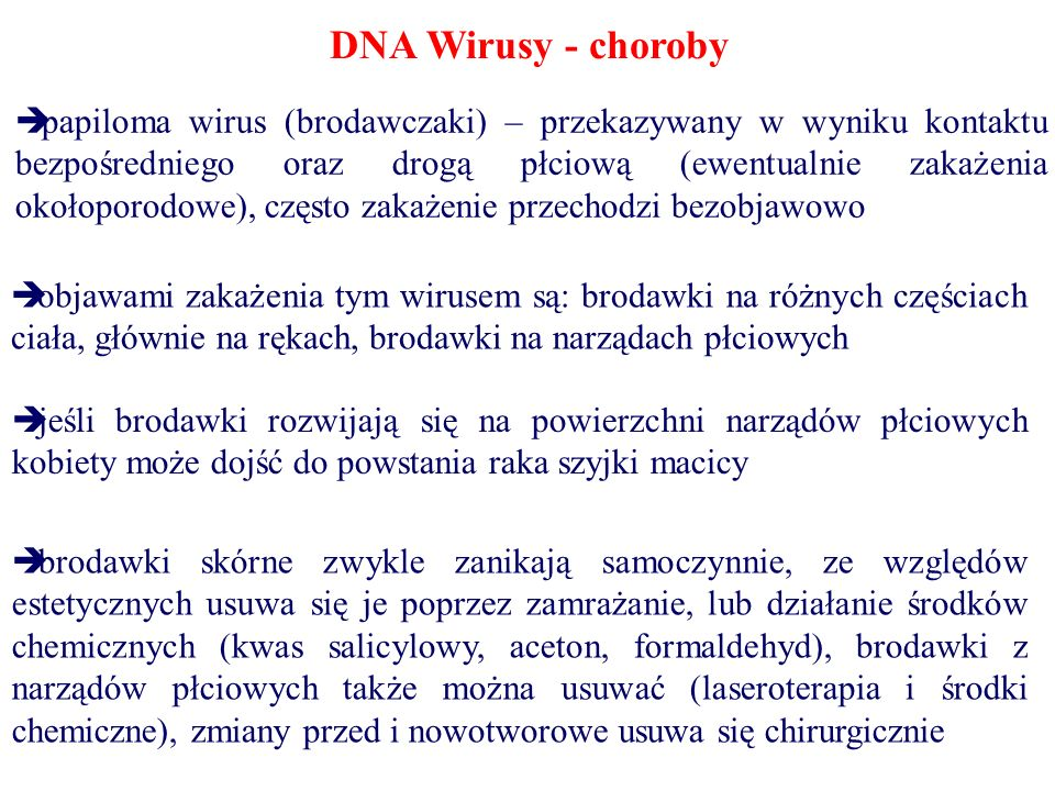 DNA Wirusy - choroby