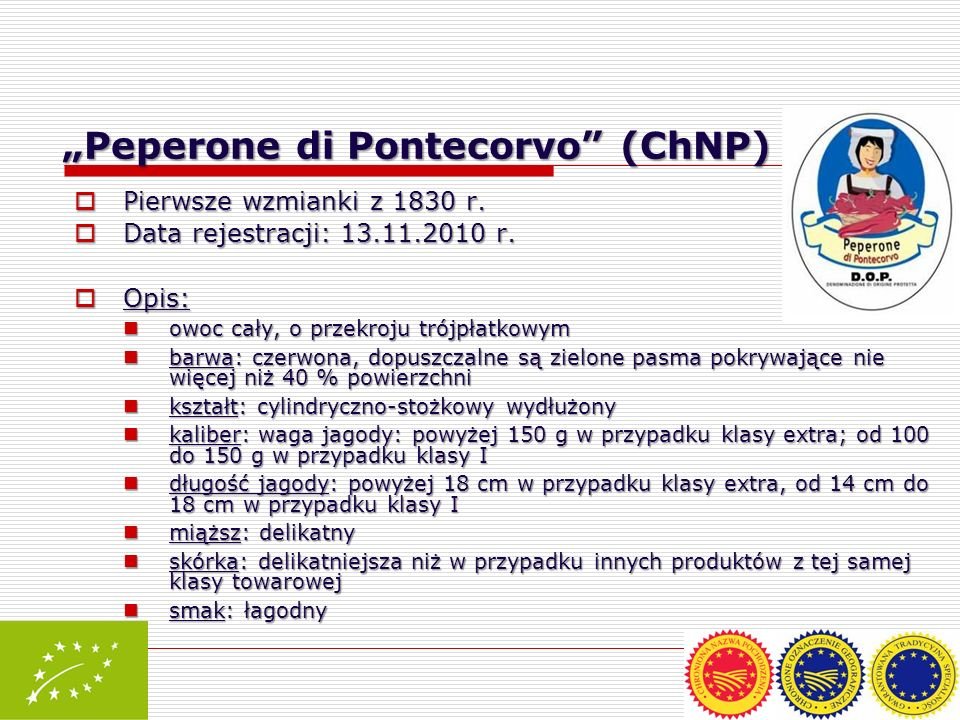 """Peperone di Pontecorvo (ChNP) – IT"