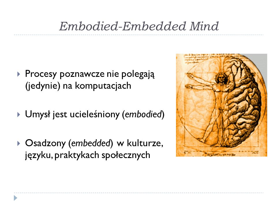 Embodied-Embedded Mind