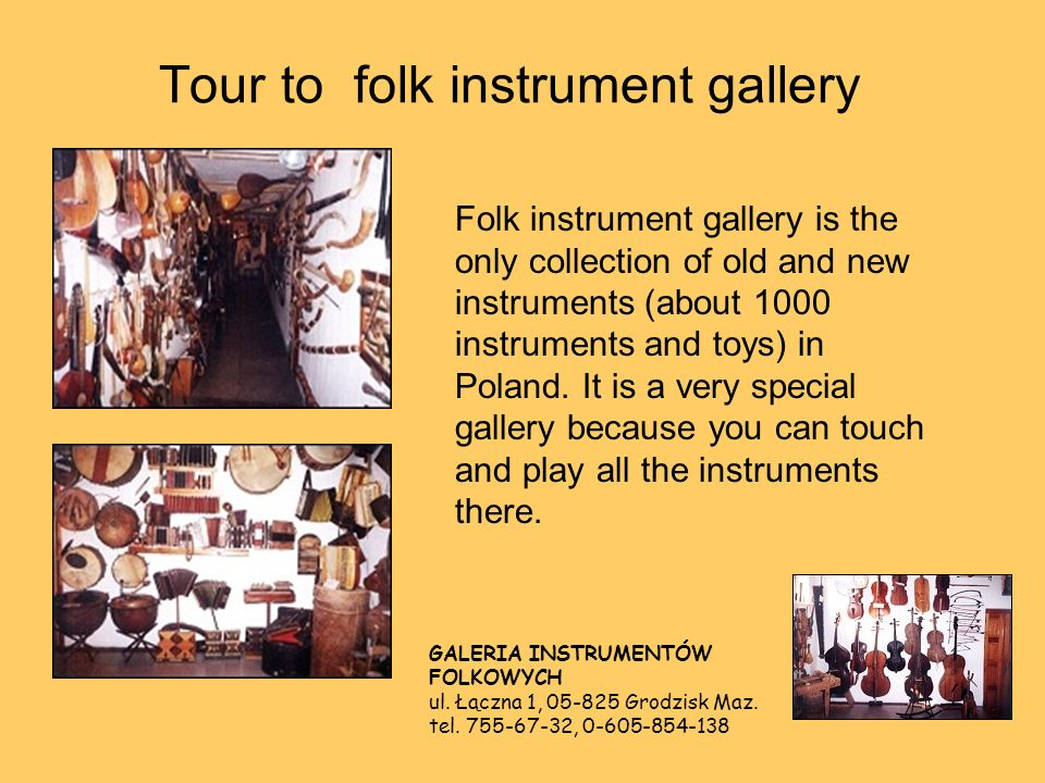 Tour to folk instrument gallery