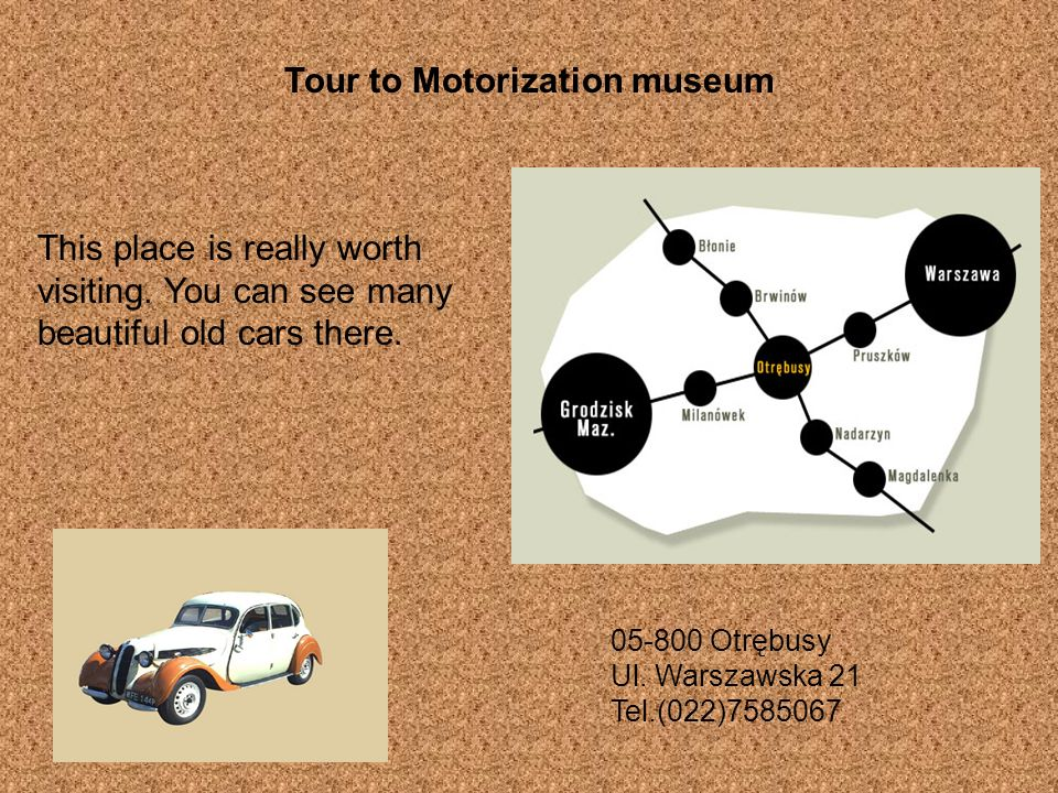 Tour to Motorization museum