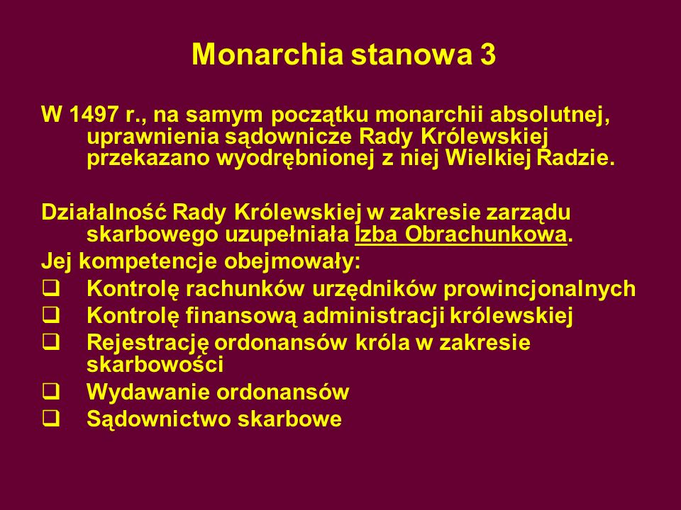 Monarchia stanowa 3