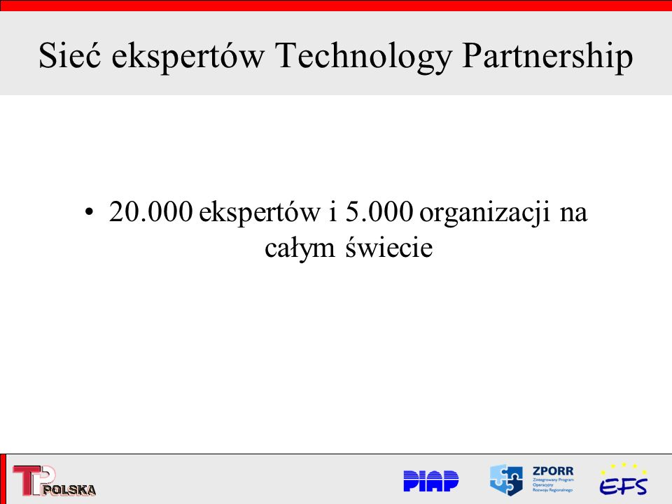 Sieć ekspertów Technology Partnership