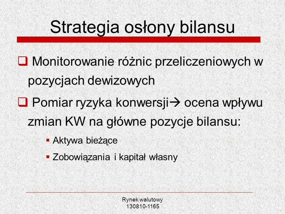 Strategia osłony bilansu