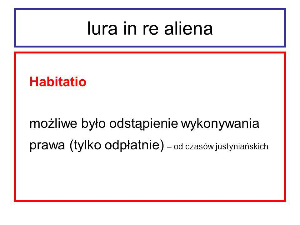 Iura in re aliena Habitatio