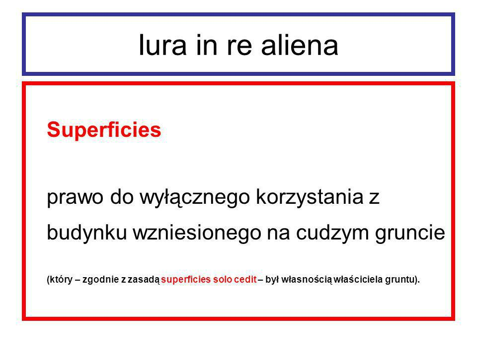Iura in re aliena Superficies