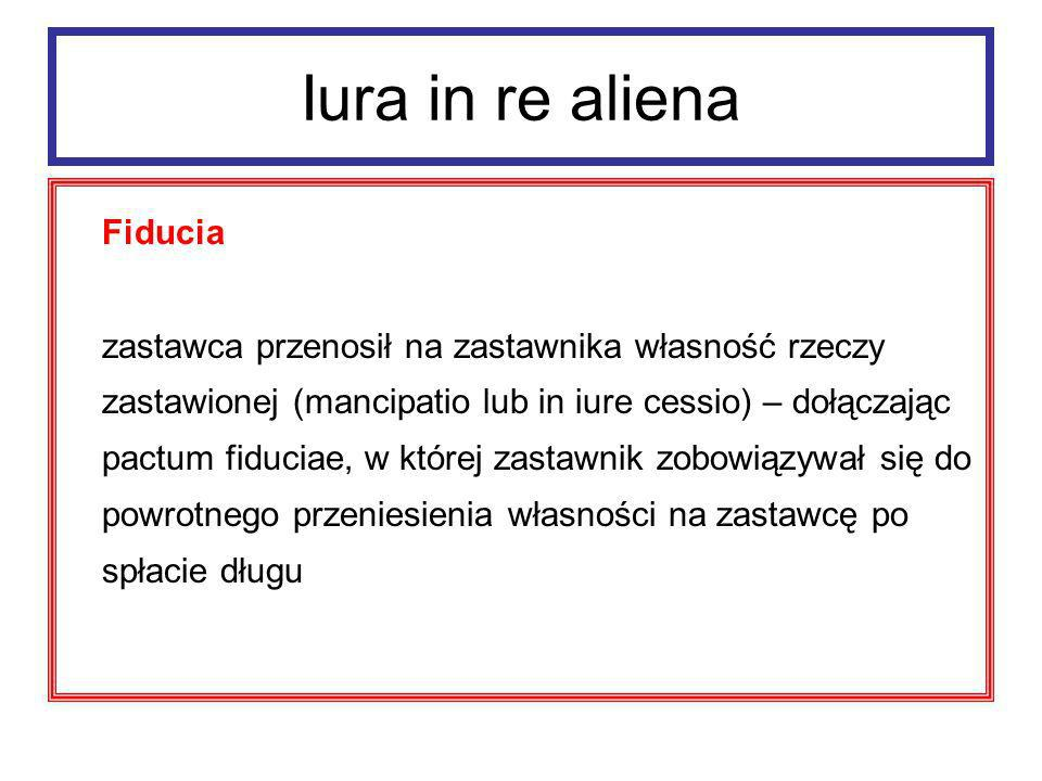 Iura in re aliena Fiducia