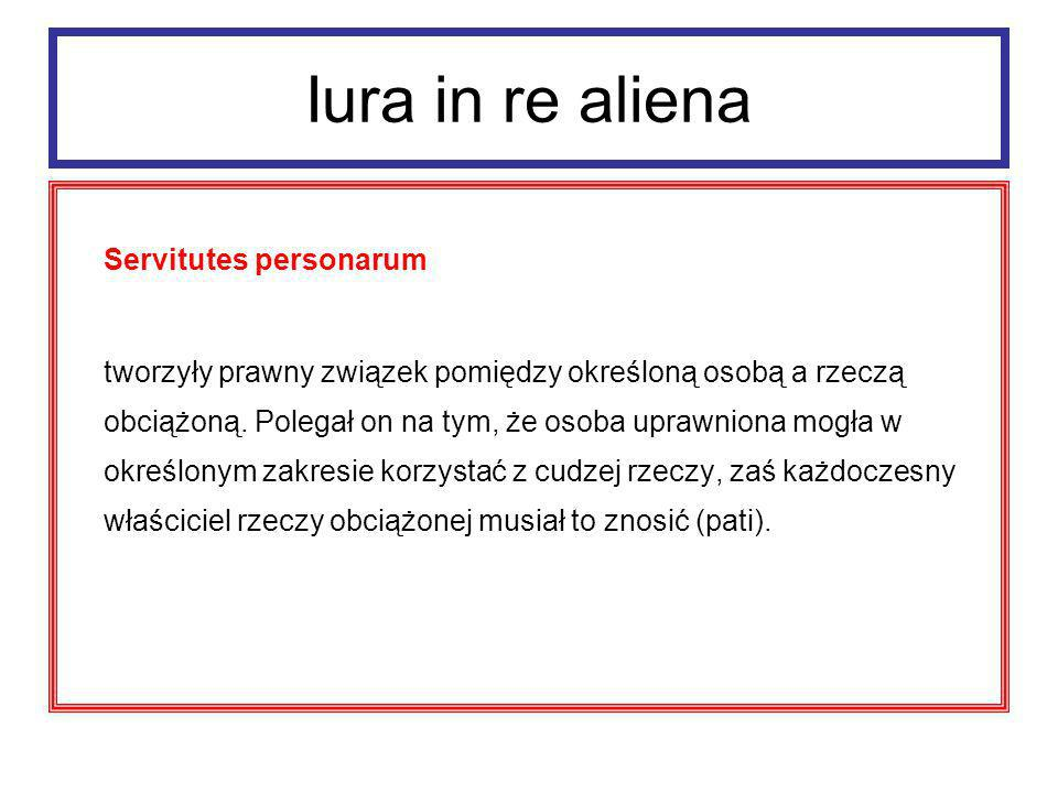 Iura in re aliena Servitutes personarum