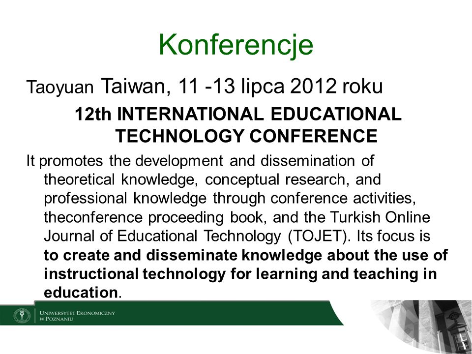 12th INTERNATIONAL EDUCATIONAL TECHNOLOGY CONFERENCE