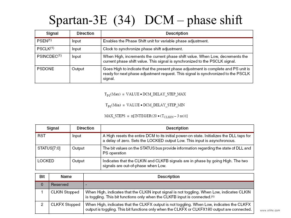 Spartan-3E (34) DCM – phase shift