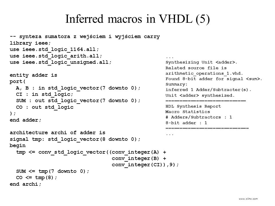 Inferred macros in VHDL (5)