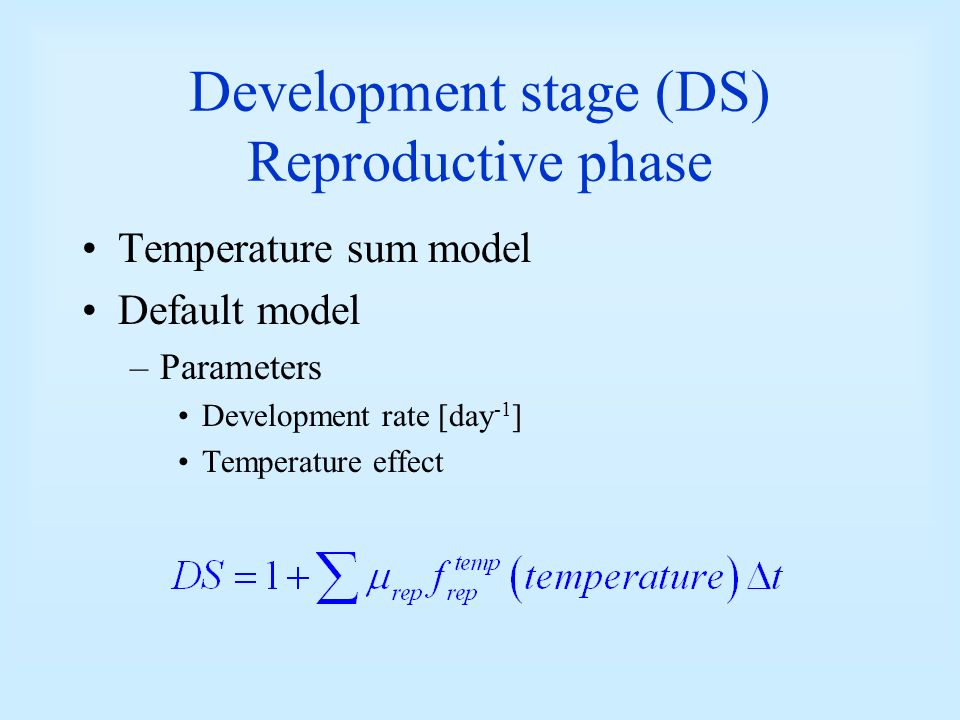 Development stage (DS) Reproductive phase