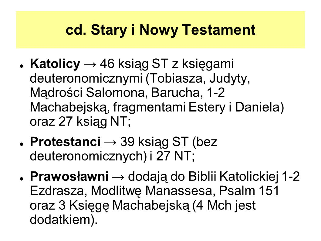 cd. Stary i Nowy Testament