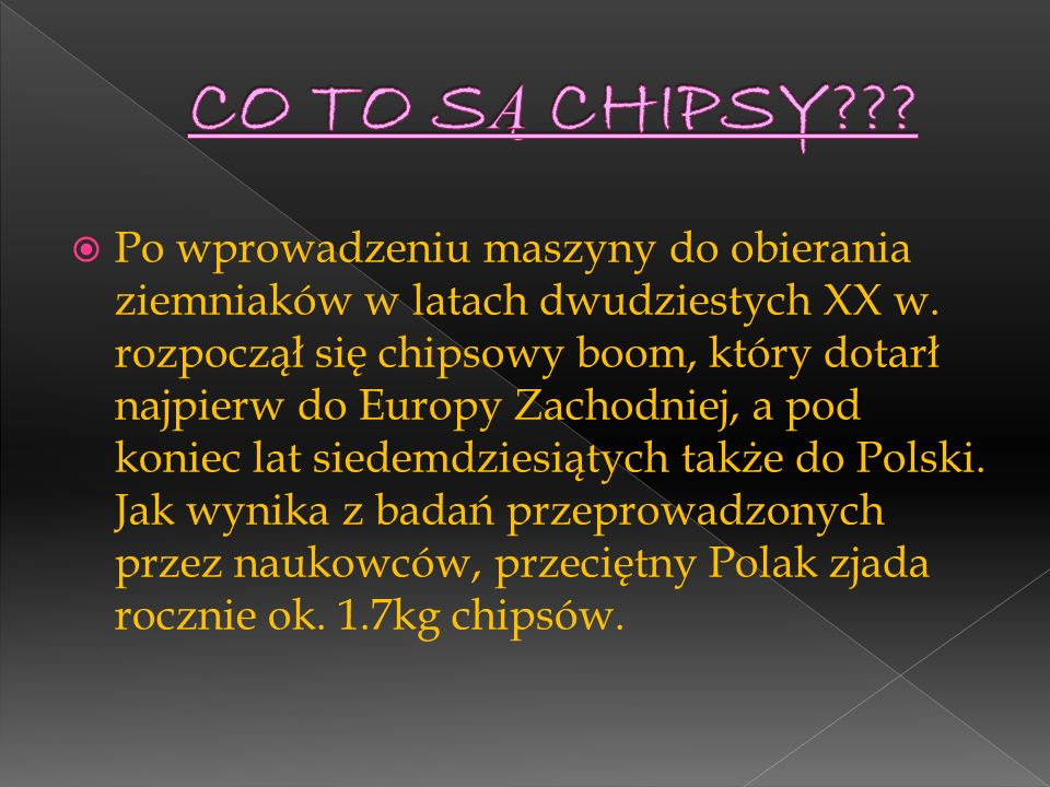 CO TO SĄ CHIPSY
