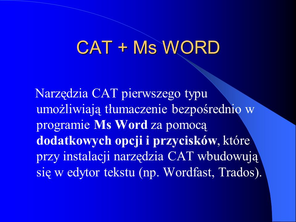 CAT + Ms WORD