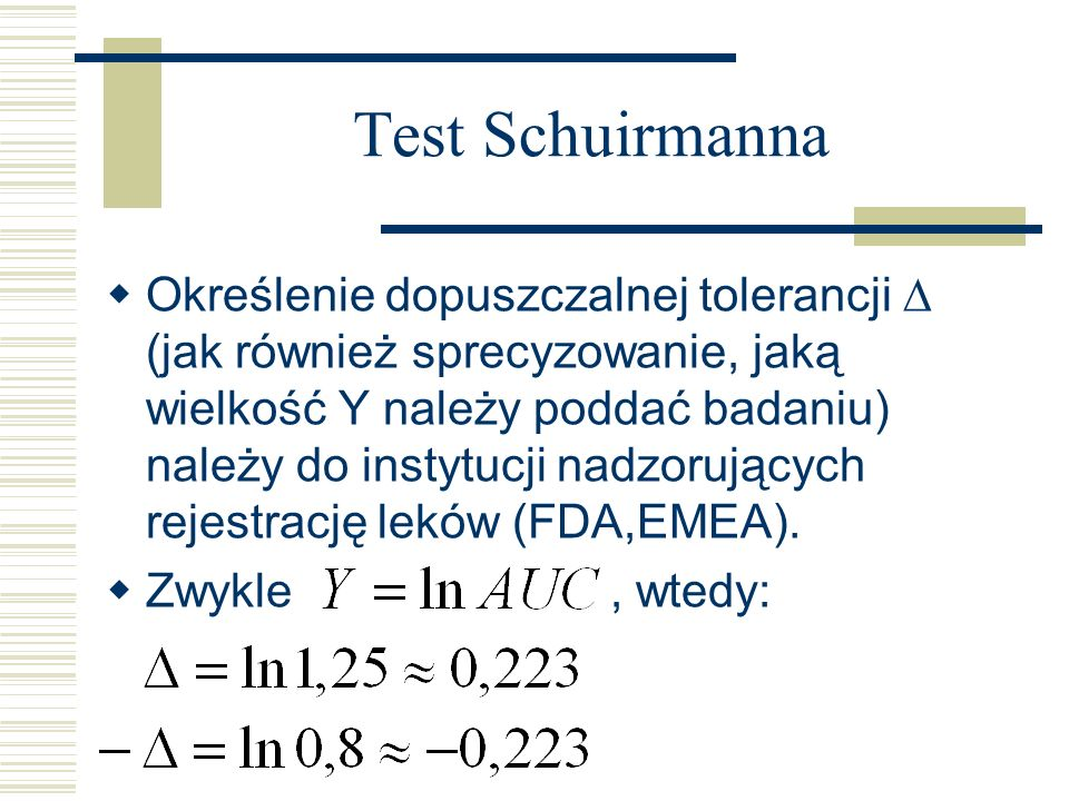 Test Schuirmanna