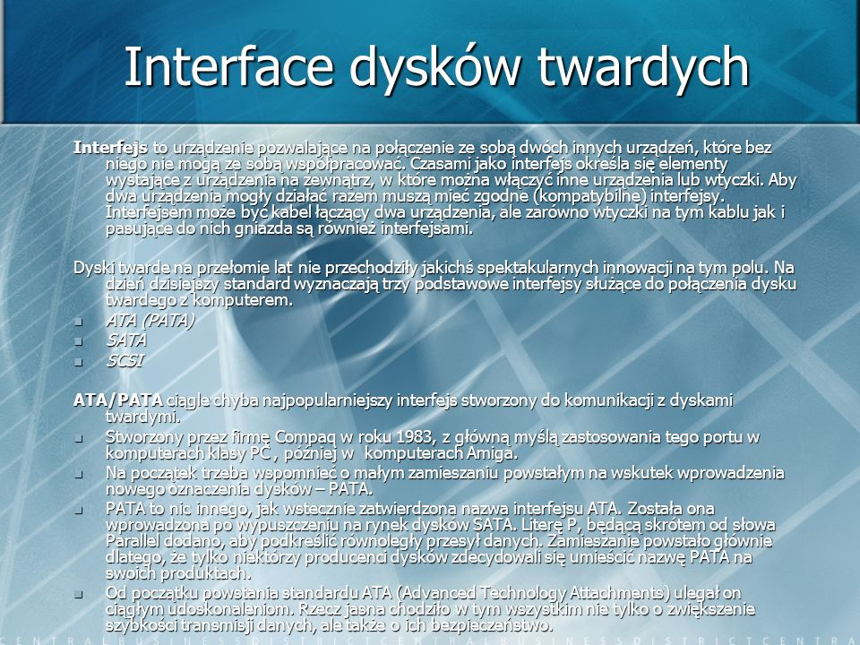 Interface dysków twardych