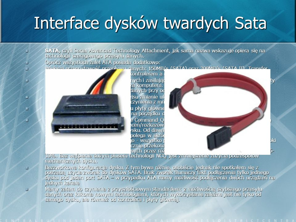 Interface dysków twardych Sata