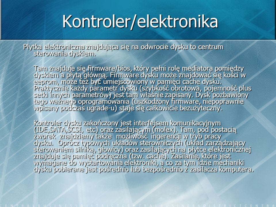 Kontroler/elektronika