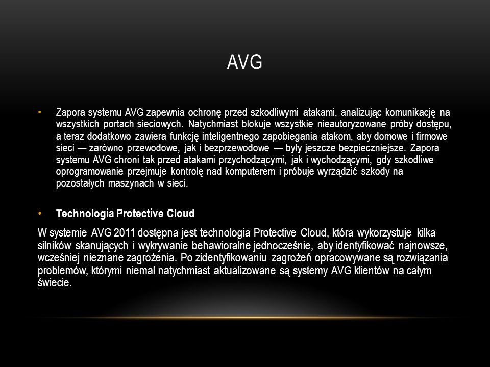 AVG Technologia Protective Cloud