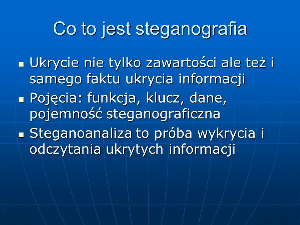 Co to jest steganografia