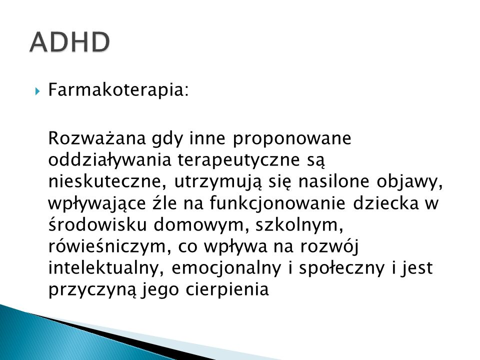 ADHD Farmakoterapia: