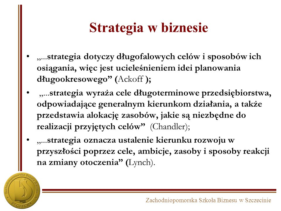 Strategia w biznesie