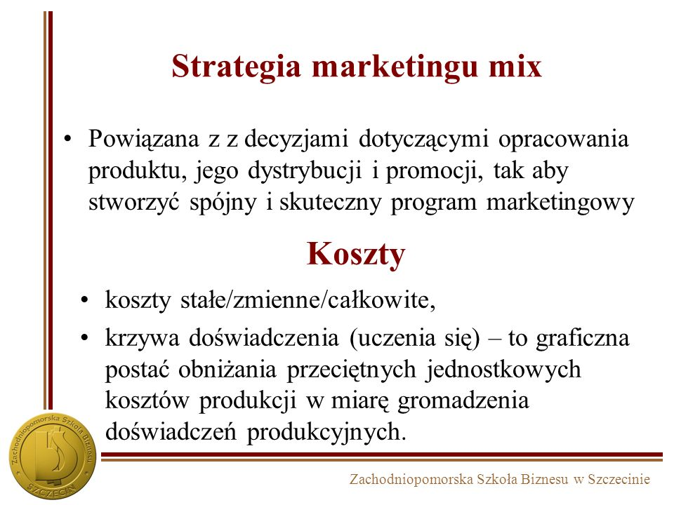 Strategia marketingu mix