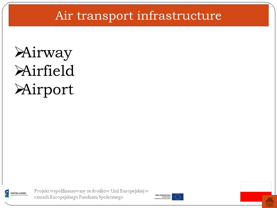 Air transport infrastructure