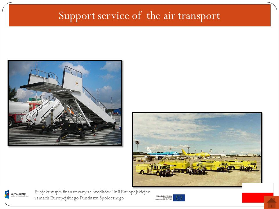 Support service of the air transport
