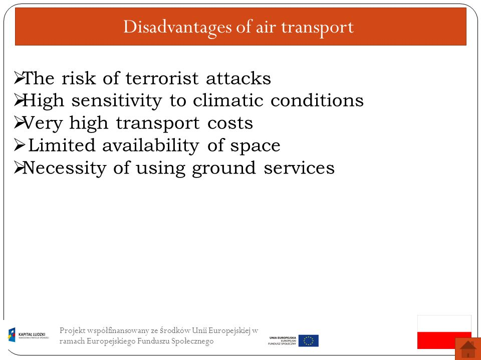 Disadvantages of air transport