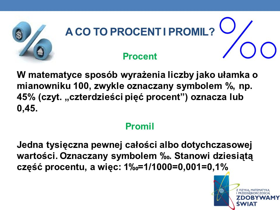 A co to procent i promil