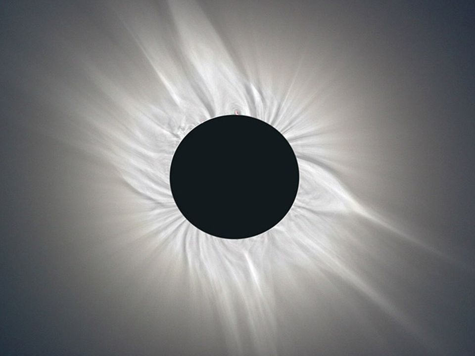 During a total solar eclipse, the Sun s extensive outer atmosphere or corona is an awesome and inspirational sight.