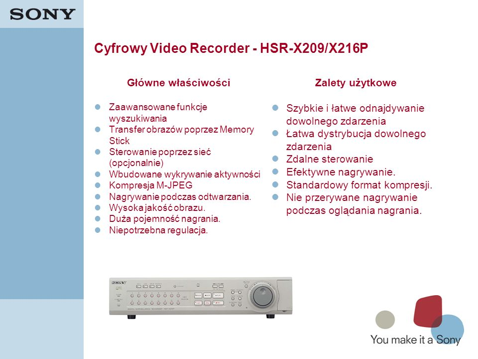 Cyfrowy Video Recorder - HSR-X209/X216P