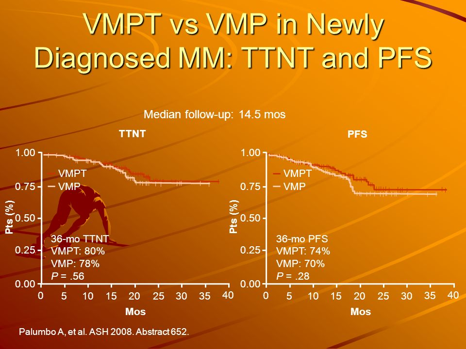 VMPT vs VMP in Newly Diagnosed MM: TTNT and PFS