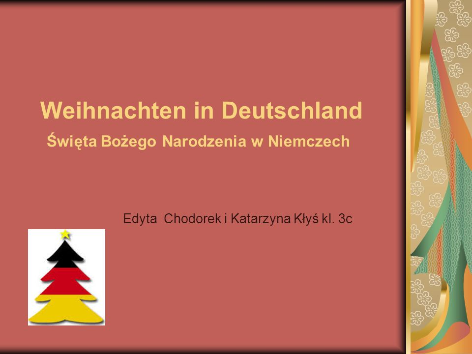 weihnachten in deutschland wi ta bo ego narodzenia w niemczech ppt video online pobierz. Black Bedroom Furniture Sets. Home Design Ideas
