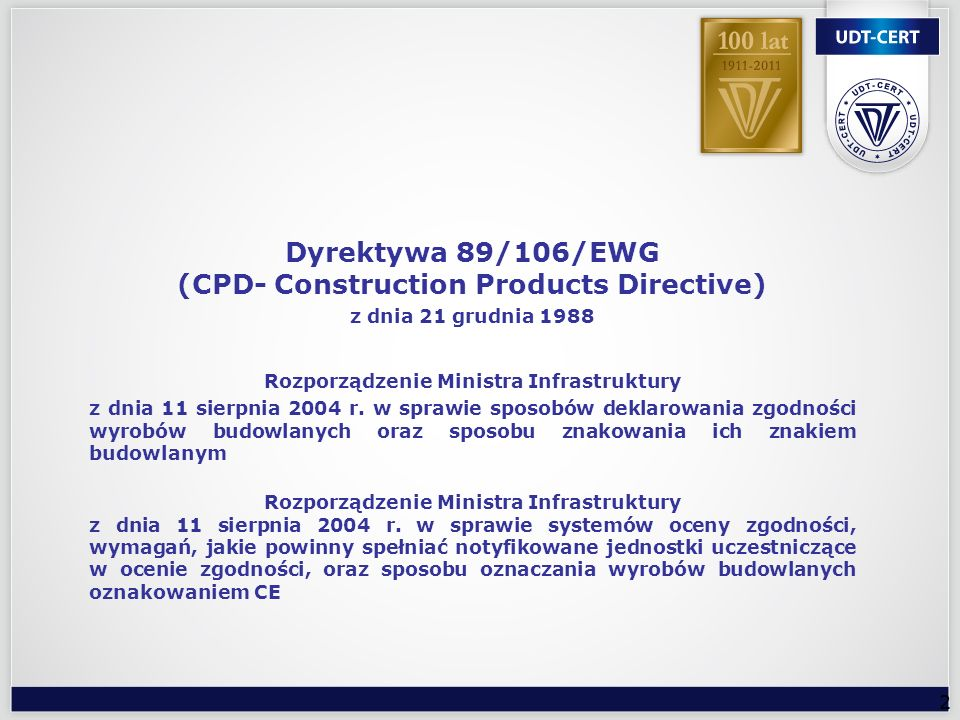Dyrektywa 89/106/EWG (CPD- Construction Products Directive)