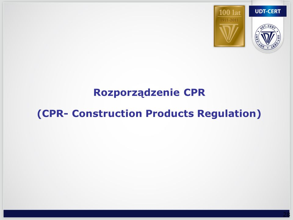 (CPR- Construction Products Regulation)