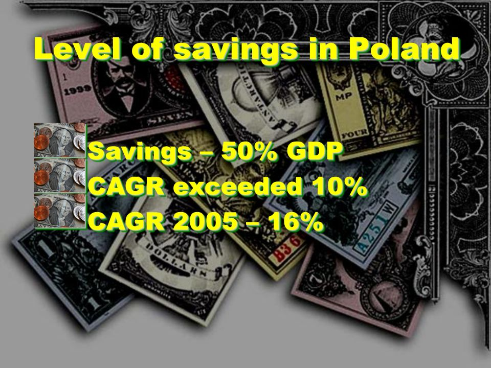 Level of savings in Poland