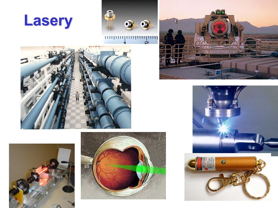 Lasery Light Amplification by Stimulated Emission of Radiation Laser