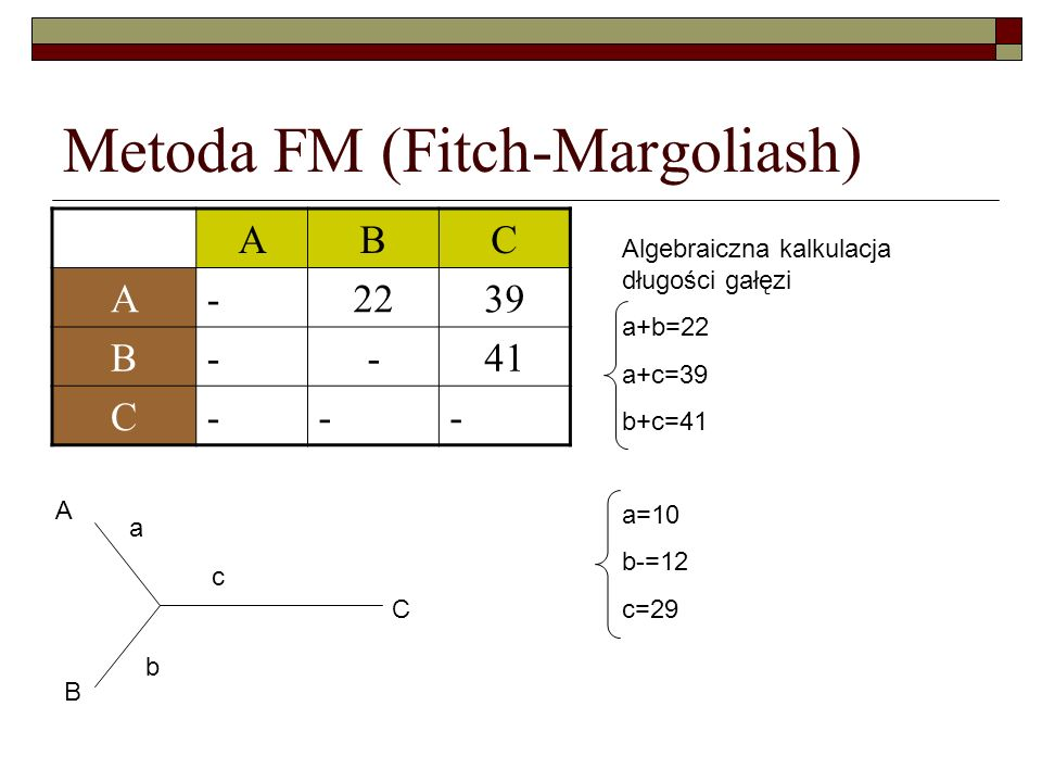 Metoda FM (Fitch-Margoliash)