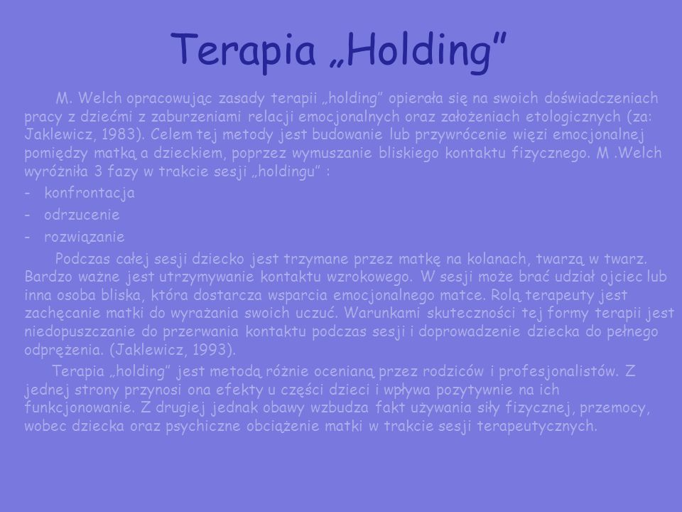 "Terapia ""Holding"