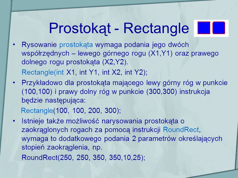 Prostokąt - Rectangle