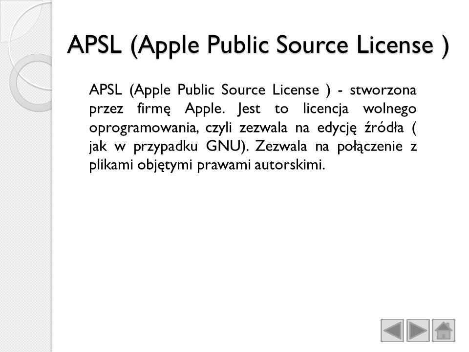Apple Public Source License