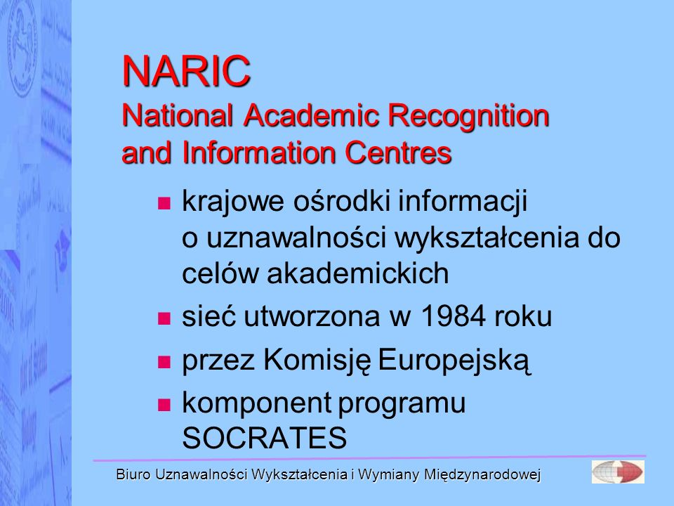 NARIC National Academic Recognition and Information Centres