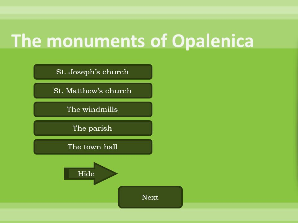 The monuments of Opalenica